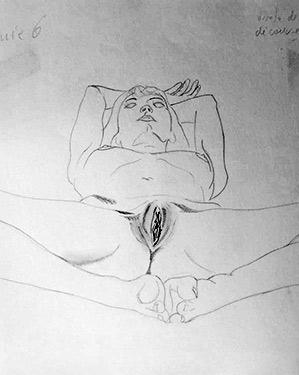 """"""" Bref, elle m'explique ce qu'elle souhaite : faire des photos d'un homme entièrement nu et suspendu dans le vide. """""""